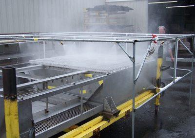 Run test of wash unit