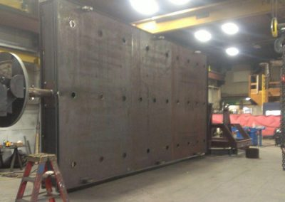 Bedplate weighing nearly 20,000 lbs