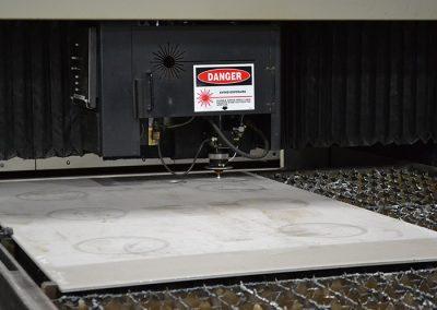 4000 watt Cincinnati Laser with speeds up to 12,000 inches/min