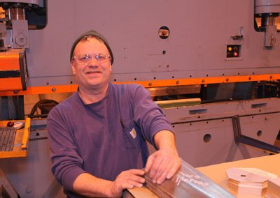4 press brakes - numerous trained operators