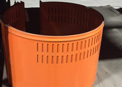 Powder coated guard