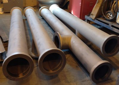 Fabricated column pipe