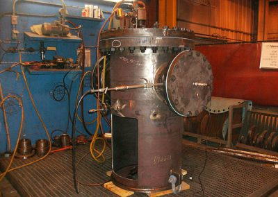 Hydro testing of discharge head